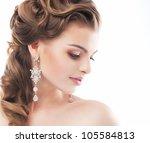 portrait of beautiful woman... | Shutterstock . vector #105584813