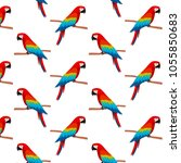 simple pattern with cute... | Shutterstock .eps vector #1055850683