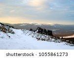 winter mountain landscape of... | Shutterstock . vector #1055861273