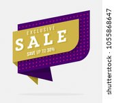 exclusive sale tag in creative...   Shutterstock .eps vector #1055868647