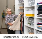the seventy year old blonde... | Shutterstock . vector #1055868857