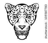 jaguar tattoo   vector... | Shutterstock .eps vector #105587783