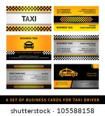 Business card taxi - fourth set. Vector 10eps - stock vector