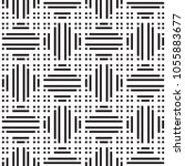 black and white geometric... | Shutterstock .eps vector #1055883677