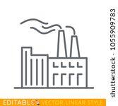 chimney of heavy industry... | Shutterstock .eps vector #1055909783