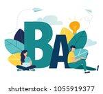vector flat illustration ... | Shutterstock .eps vector #1055919377