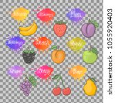 fruits healthy set illustration ... | Shutterstock .eps vector #1055920403