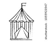 carnival circus tent flag... | Shutterstock .eps vector #1055923547