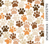 vector cute dog paw print... | Shutterstock .eps vector #1055923793