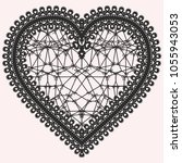 heart with lace pattern. ornate ... | Shutterstock .eps vector #1055943053