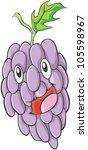 happy grapes fruit illustration | Shutterstock .eps vector #105598967