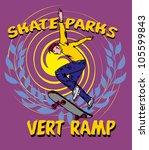 skateboarding   Shutterstock .eps vector #105599843