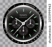 realistic watch clock... | Shutterstock .eps vector #1055999963