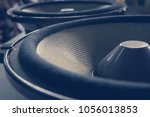 part of yellow old car audio... | Shutterstock . vector #1056013853