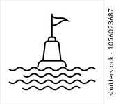buoy icon  float buoy icon... | Shutterstock .eps vector #1056023687