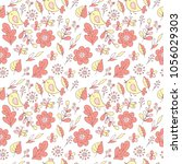 flower pattern seamless in... | Shutterstock .eps vector #1056029303