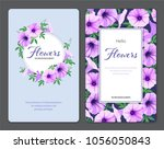 beautiful morning glory flowers ... | Shutterstock .eps vector #1056050843