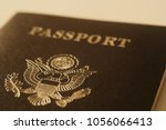 us passport cover toned blurred ... | Shutterstock . vector #1056066413