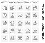 geotechnical engineering icon... | Shutterstock .eps vector #1056085067