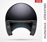 classic motor helmet model.... | Shutterstock .eps vector #1056147683