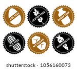 set ingredient warning label... | Shutterstock .eps vector #1056160073