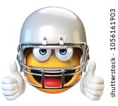 american football emoji... | Shutterstock . vector #1056161903