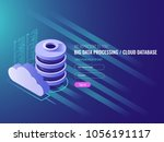 cloud data storage services ... | Shutterstock .eps vector #1056191117