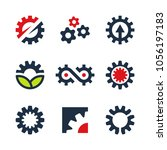 vector gear wheel icons and... | Shutterstock .eps vector #1056197183