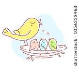 vector illustration of cute... | Shutterstock .eps vector #1056223463