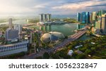 singapore city  singapore ... | Shutterstock . vector #1056232847