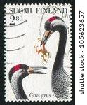 finland   circa 1997  stamp... | Shutterstock . vector #105623657