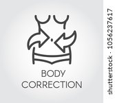body correction line icon.... | Shutterstock .eps vector #1056237617