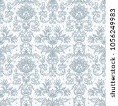 seamless gray lace background... | Shutterstock .eps vector #1056249983