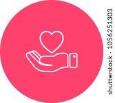 heart in hand symbol  sign ...   Shutterstock .eps vector #1056251303