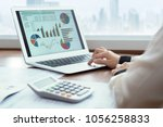 accounting report spreadsheet.... | Shutterstock . vector #1056258833