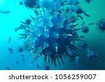 3d illustration pathogenic... | Shutterstock . vector #1056259007
