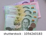 banknotes of thailand with a...   Shutterstock . vector #1056260183