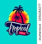 Vintage Tropical Party Emblem...