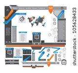 vector website design template 2   Shutterstock .eps vector #105628433