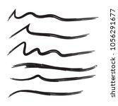 vector set of hand drawn... | Shutterstock .eps vector #1056291677