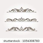 set with three fancy page... | Shutterstock .eps vector #1056308783