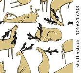 vector seamless pattern of hand ... | Shutterstock .eps vector #1056315203