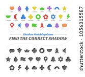 shadow matcing game. find the... | Shutterstock .eps vector #1056315587