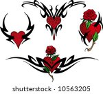 illustration of four red heart... | Shutterstock . vector #10563205