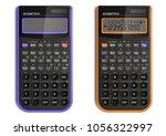 scientific calculator with... | Shutterstock .eps vector #1056322997