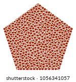 filled pentagon collage of...   Shutterstock .eps vector #1056341057