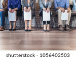 photo of candidates waiting for ... | Shutterstock . vector #1056402503