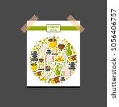 vector illustration with...   Shutterstock .eps vector #1056406757