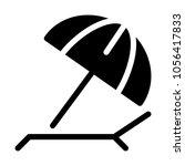 beach sunshade umbrella | Shutterstock .eps vector #1056417833