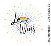 love wins. lgbt logo symbols...   Shutterstock .eps vector #1056430313